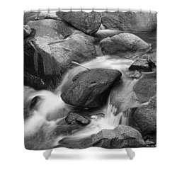 Flowing Water Down The Colorado St Vrain River Bw Shower Curtain by James BO  Insogna