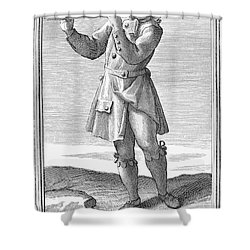 Flute, 1723 Shower Curtain by Granger