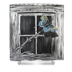 Fly Away Free Shower Curtain by Carla Carson