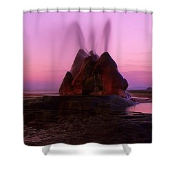 Fly Geyser Sunset 4 Shower Curtain by Bob Christopher