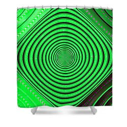 Focus On Green Shower Curtain by Carolyn Marshall