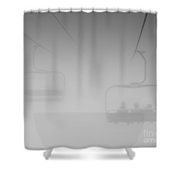 Fog Shower Curtain by Eunice Gibb