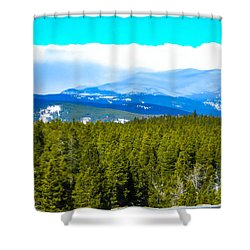 Shower Curtain featuring the photograph Fog In The Rockies by Shannon Harrington