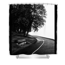 Foggy Day V-4 Shower Curtain by Mauro Celotti