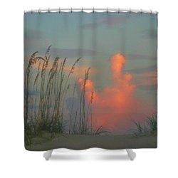 Foggy Oats Shower Curtain by Kristin Elmquist