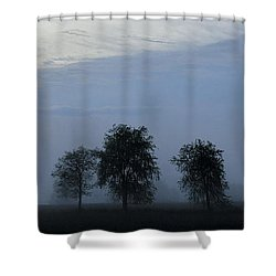 Foggy Pennsylvania Treeline Shower Curtain