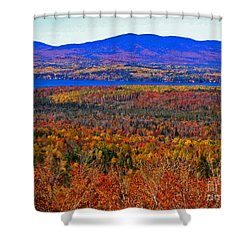 Foliage From Height Of Land Shower Curtain