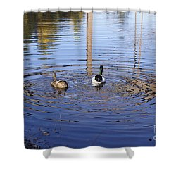 Following Theirs Path By Line Gagne Shower Curtain by Line Gagne