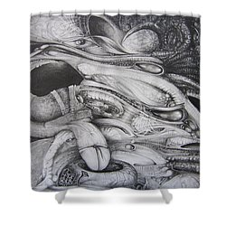 Fomorii General Shower Curtain by Otto Rapp