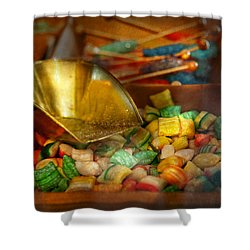 Food - Candy - One Scoop Of Candy Please  Shower Curtain by Mike Savad