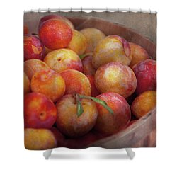 Food - Peaches - Farm Fresh Peaches  Shower Curtain by Mike Savad