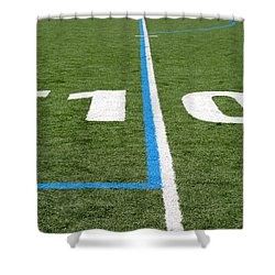 Shower Curtain featuring the photograph Football Field Ten by Henrik Lehnerer