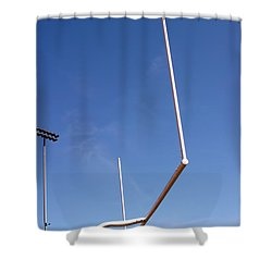 Shower Curtain featuring the photograph Football Goal by Henrik Lehnerer