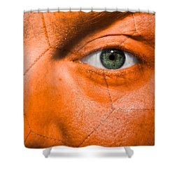 Football Scars Shower Curtain by Semmick Photo