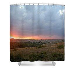 Foothills Sunset Shower Curtain by Stuart Turnbull
