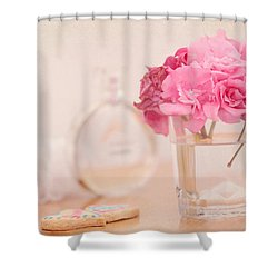 For Her Shower Curtain by Jenny Rainbow