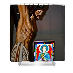 For My Sins Shower Curtain