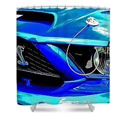 Shower Curtain featuring the digital art Ford Mustang Cobra by Tony Cooper