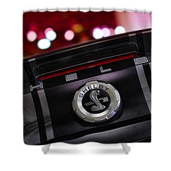 Ford Mustang Shelby Gt500 Super Snake  Shower Curtain by Gordon Dean II