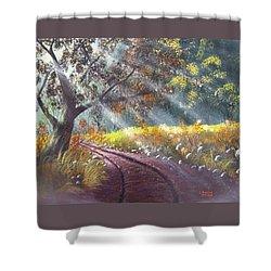 Forest Sunbeams Shower Curtain