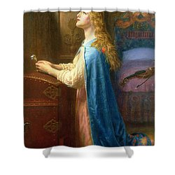 'forget Me Not' Shower Curtain by Arthur Hughes