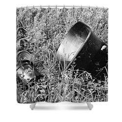 Shower Curtain featuring the photograph Forgotten by Chriss Pagani