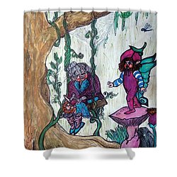 Forgotten Summer Shower Curtain by Koral Garcia