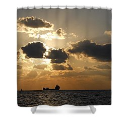 Shower Curtain featuring the photograph Fort Lauderdale Sunrise by Clara Sue Beym
