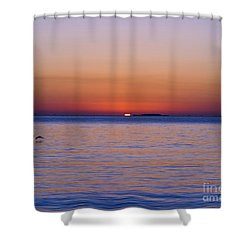 Fort Sumter Sunrise Shower Curtain by Al Powell Photography USA