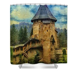 Fortified Faith Shower Curtain by Jeff Kolker