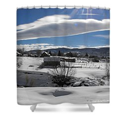Fortress Of Solitude Shower Curtain by Adam Cornelison