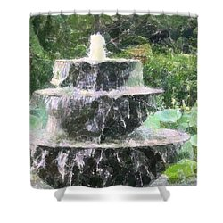 Shower Curtain featuring the photograph Fountain by Donna  Smith