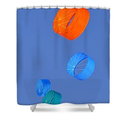 Four Kites Shower Curtain by David Lee Thompson