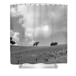 Shower Curtain featuring the photograph Four On The Hill by Kathleen Grace