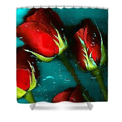 Shower Curtain featuring the photograph Four Roses by Carolyn Repka