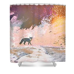 Fox In The Forest 2 Shower Curtain by Lenore Senior and Tammy Sutherland
