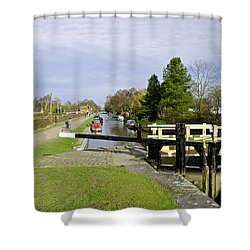 Fradley Middle Lock No. 18 Shower Curtain by Rod Johnson