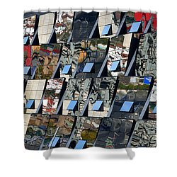 Fragmented Guggenheim Museum Bilbao Shower Curtain by RicardMN Photography