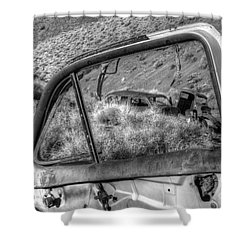 Framed Shower Curtain by Bob Christopher