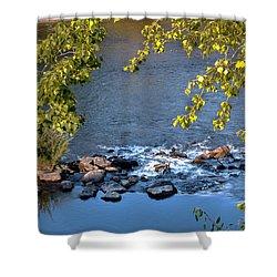 Framed Rapids Shower Curtain by Robert Bales