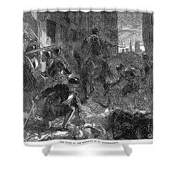 France: Massacre, 1572 Shower Curtain by Granger