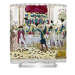 France: Versailles, 1789 Shower Curtain by Granger