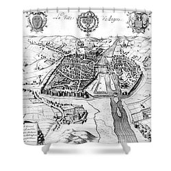 France: Walled City, 1688 Shower Curtain by Granger