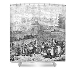 France: Wine Harvest, 1871 Shower Curtain by Granger