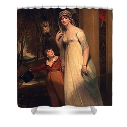 Frances Borlase Later Frances Grenfell And Pascoe George Norman Grenfel Shower Curtain by Sir Martin Archer Shee