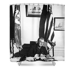 Franklin D. Roosevelt, 32nd American Shower Curtain by Omikron