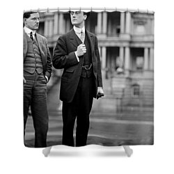 Franklin Delano Roosevelt As A Young Man - C 1913 Shower Curtain by International  Images