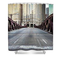 Franklin Orleans Street Bridge Chicago Loop Shower Curtain by Paul Velgos