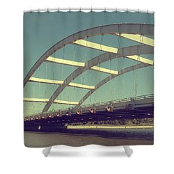 Freddie Sue Bridge Shower Curtain by Kristen Cavanaugh