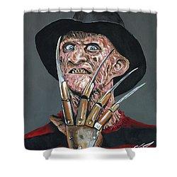 Freddy Kruger Shower Curtain by Tom Carlton